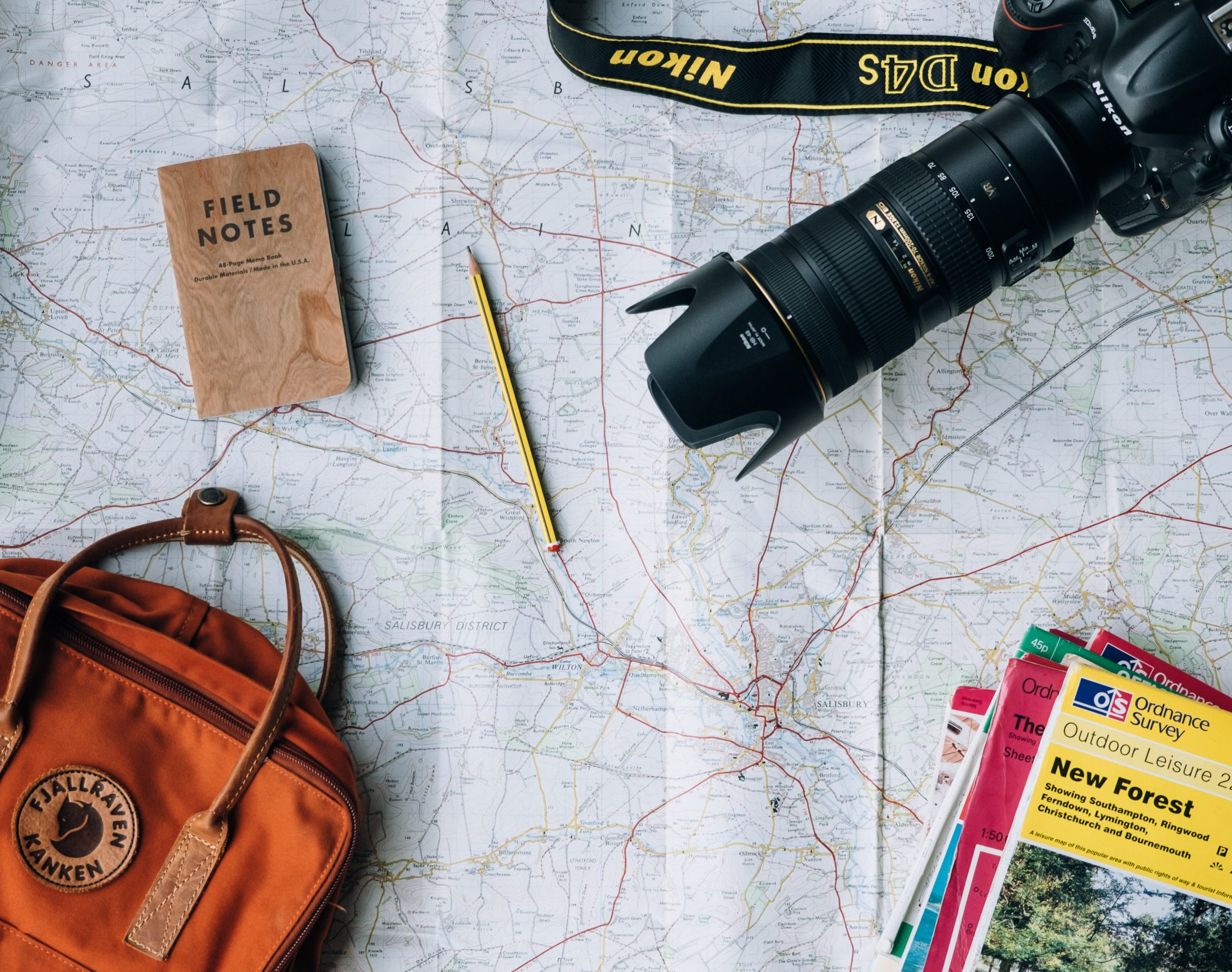 Map and travel gear