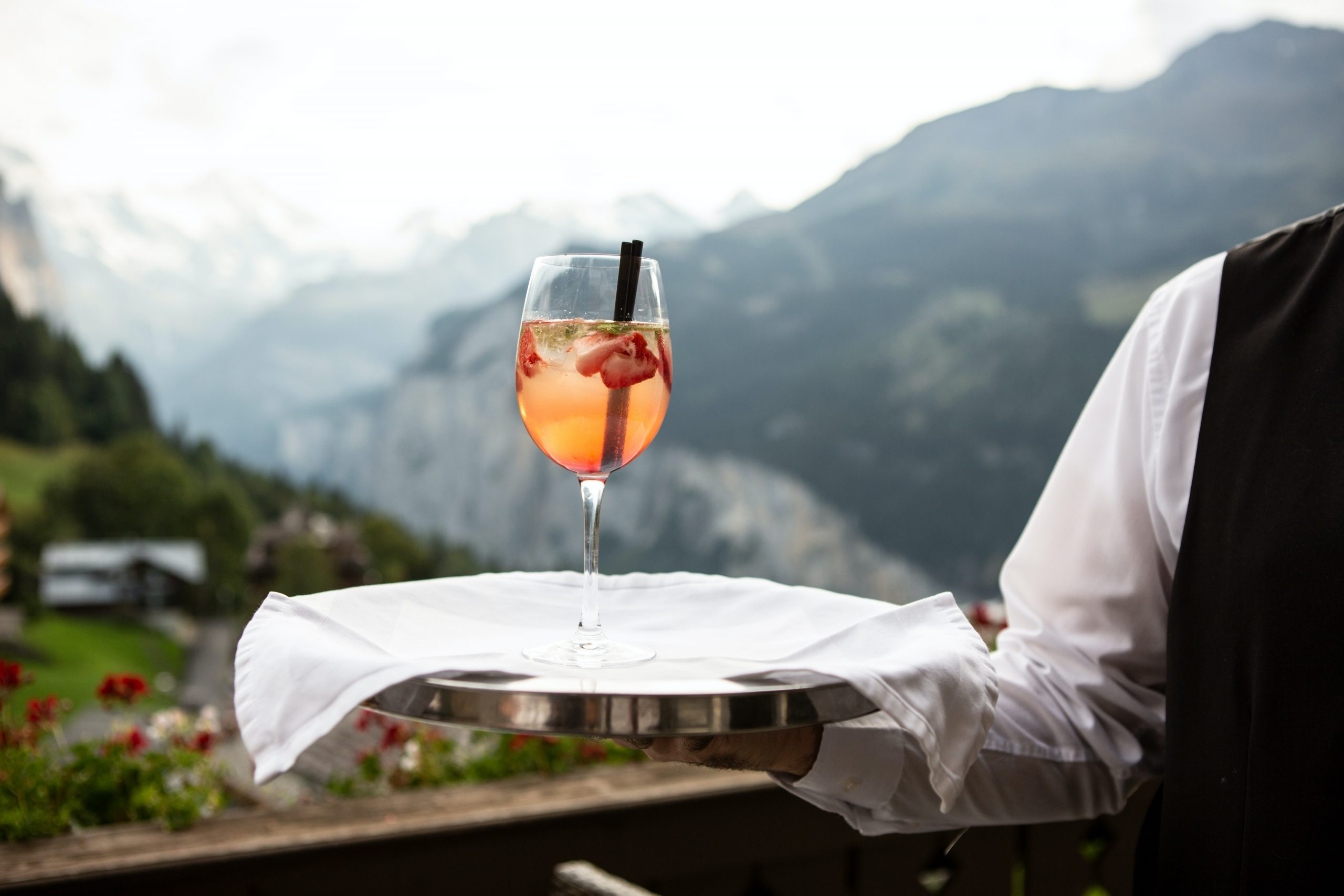 Waiter with a cocktail