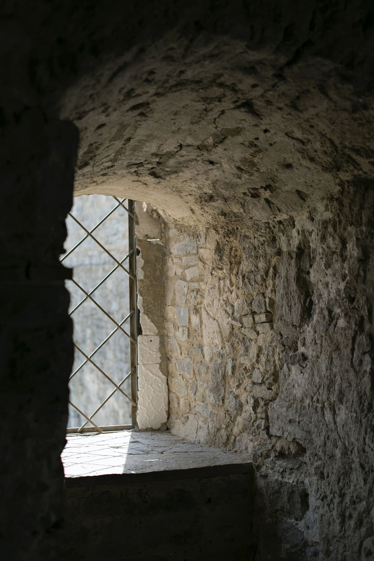 Window from the Kamianets-Podilskyi Castle in Ukraine