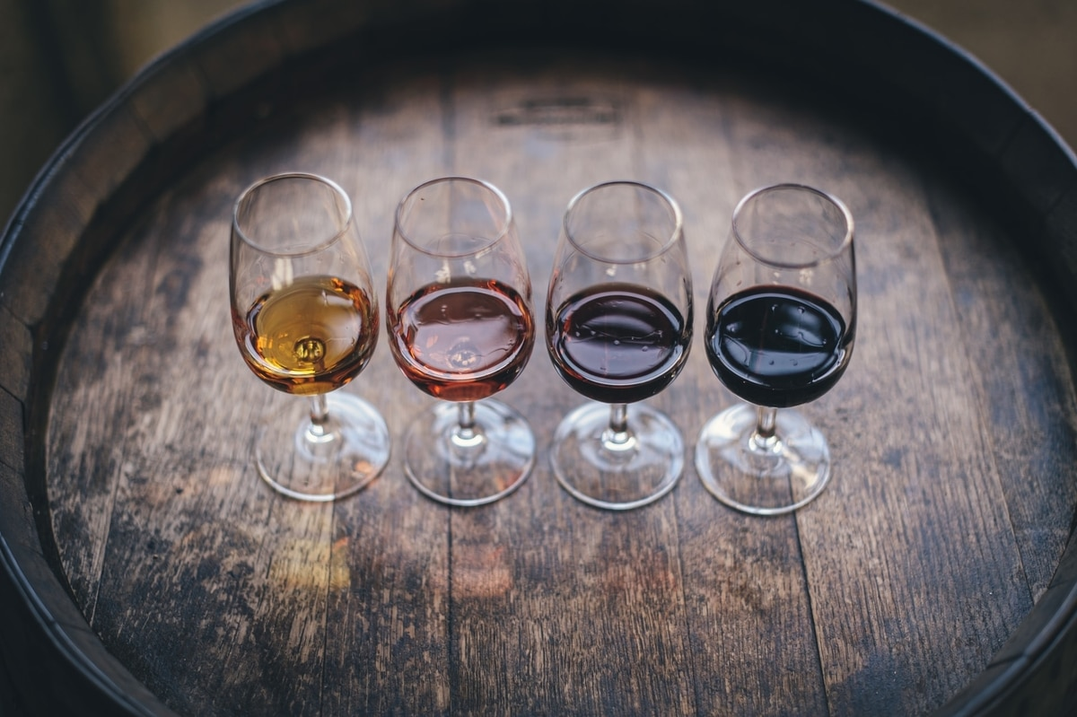 Four shades of wine